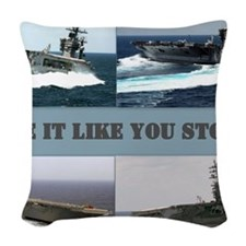 Drive it like you stole it Woven Throw Pillow