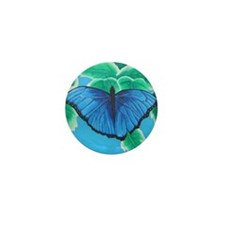 Blue Morpho Mini Button