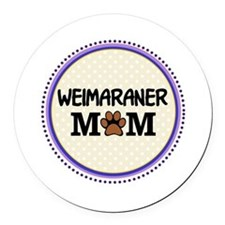 Weimaraner Dog Mom Round Car Magnet