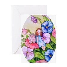 Garden Pansy Fairy Greeting Card