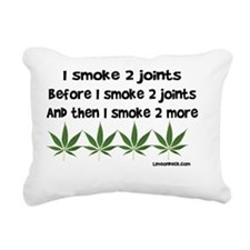 Smoke 2 joints Rectangular Canvas Pillow