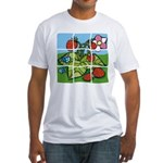 Strawberry Puzzle Fitted T-Shirt