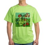 Strawberry Puzzle Green T-Shirt