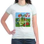 Strawberry Puzzle Jr. Ringer T-Shirt