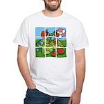 Strawberry Puzzle White T-Shirt