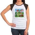 Strawberry Puzzle Women's Cap Sleeve T-Shirt