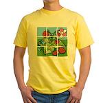 Strawberry Puzzle Yellow T-Shirt