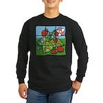 Strawberry Puzzle Long Sleeve Dark T-Shirt