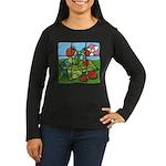 Strawberry Puzzle Women's Long Sleeve Dark T-Shirt