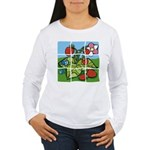 Strawberry Puzzle Women's Long Sleeve T-Shirt