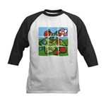 Strawberry Puzzle Kids Baseball Jersey