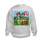 Strawberry Puzzle Kids Sweatshirt