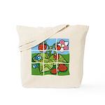 Strawberry Puzzle Tote Bag