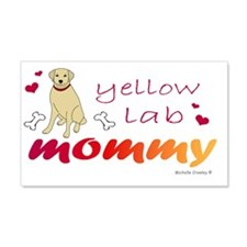 yellow lab Wall Decal