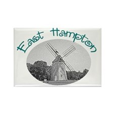 East Hampton Windmill Rectangle Magnet