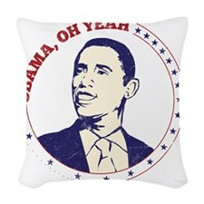 Obama, Oh Yeah! Woven Throw Pillow