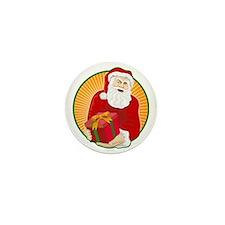 Santa Claus Father Christmas Retro Mini Button