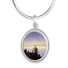 Above the Cloud Silver Oval Necklace