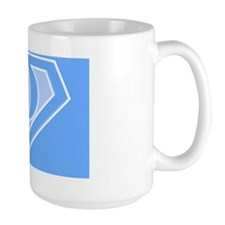 super pillowcase blue o Mug