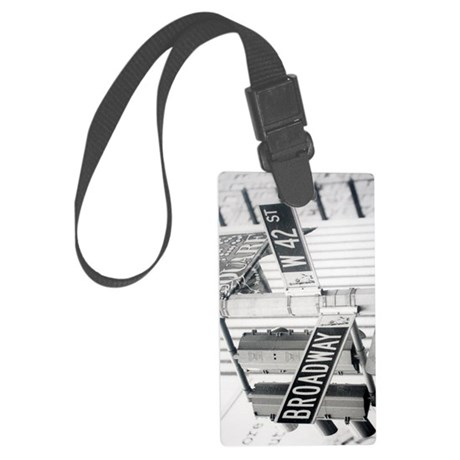 New York - Broadway Times Square Large Luggage Tag