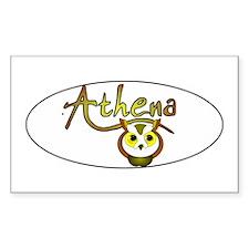 Athena, Goddess of Wisdom and Sticker (Rectangular