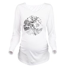 Disc Golf Girl Style Long Sleeve Maternity T-Shirt