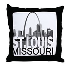 St. Louis Skyline Throw Pillow
