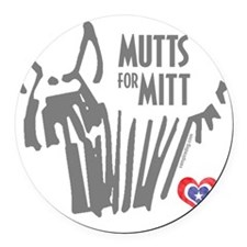 Mutts for Mitt by Vampire Dog Round Car Magnet