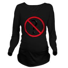 No questions Long Sleeve Maternity T-Shirt
