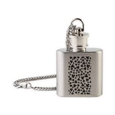 CloverPattern tall Flask Necklace