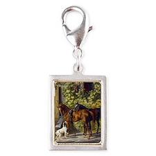 Adam Albrecht - Horses at th Silver Portrait Charm