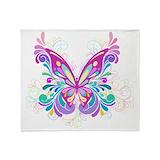 Butterflies Fleece Blankets