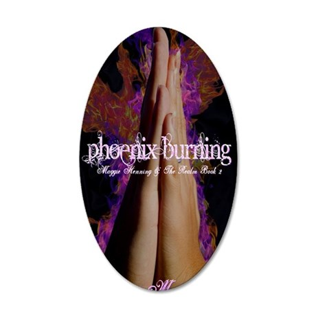 Phoenix Burning cover art 35x21 Oval Wall Decal