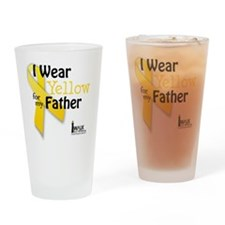 i_wear_yellow_for_my_father_updated Drinking Glass