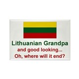 Gd Lkg Lithuanian Grandpa Rectangle Magnet