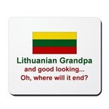 Gd Lkg Lithuanian Grandpa Mousepad