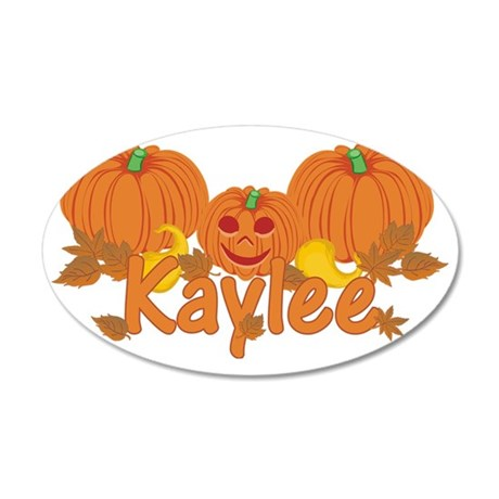 Halloween Pumpkin Kaylee 35x21 Oval Wall Decal