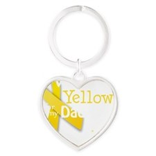 trans_i_wear_yellow_for_my_dad_upda Heart Keychain