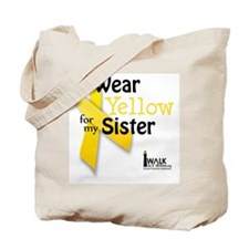 i_wear_yellow_for_my_sister_updated Tote Bag