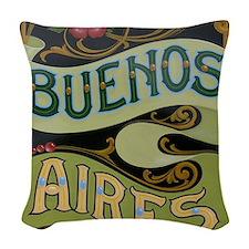 Buenos Aires fileteado Woven Throw Pillow