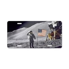 Scotts Lunar Salute Aluminum License Plate