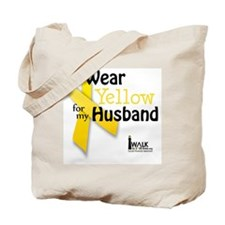 i_wear_yellow_for_my_husband_updated Tote Bag