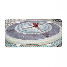 Compass Foo Aluminum License Plate