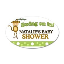 Natalies Baby Shower Sign Wall Sticker