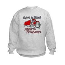 Save a Semi, Ride a Trucker Sweatshirt