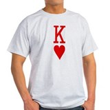 Suicide King of Hearts Poker T-Shirt