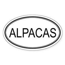 Oval Design: ALPACAS Oval Decal