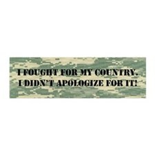I Fought For My Country! Wall Decal