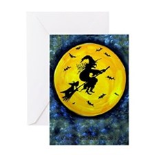 Scottie Moon  Halloween Witch Greeting Card
