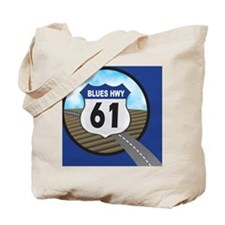 Blues Hwy Postcard Tote Bag